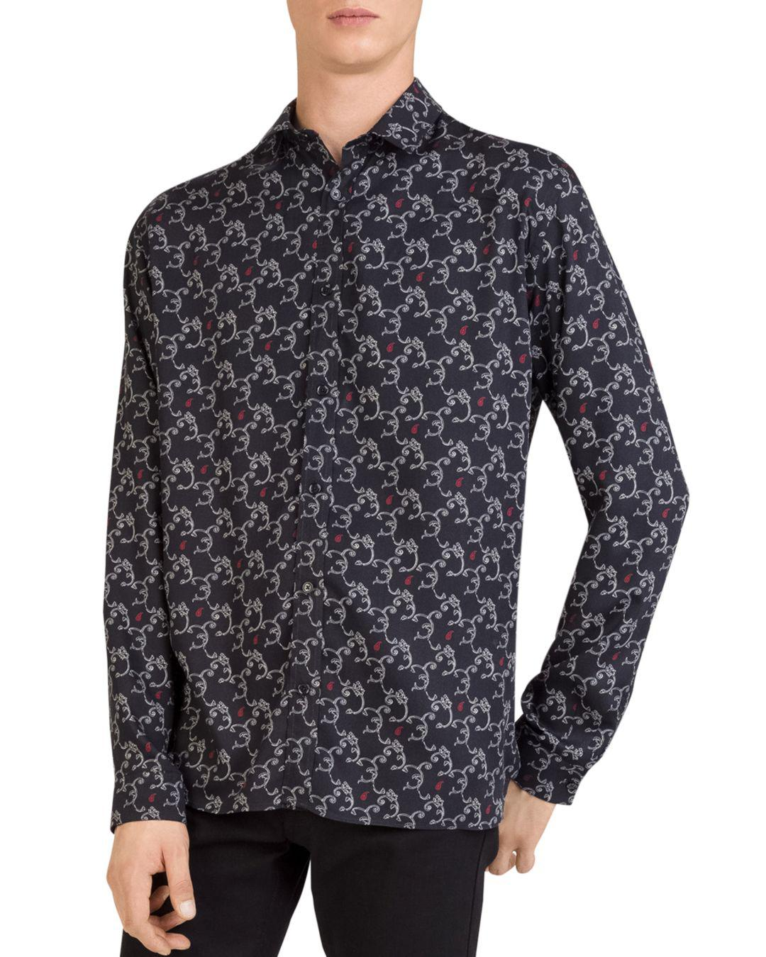 f1585ea3 Lyst - The Kooples Arabesque Regular Fit Button-down Shirt in Black ...