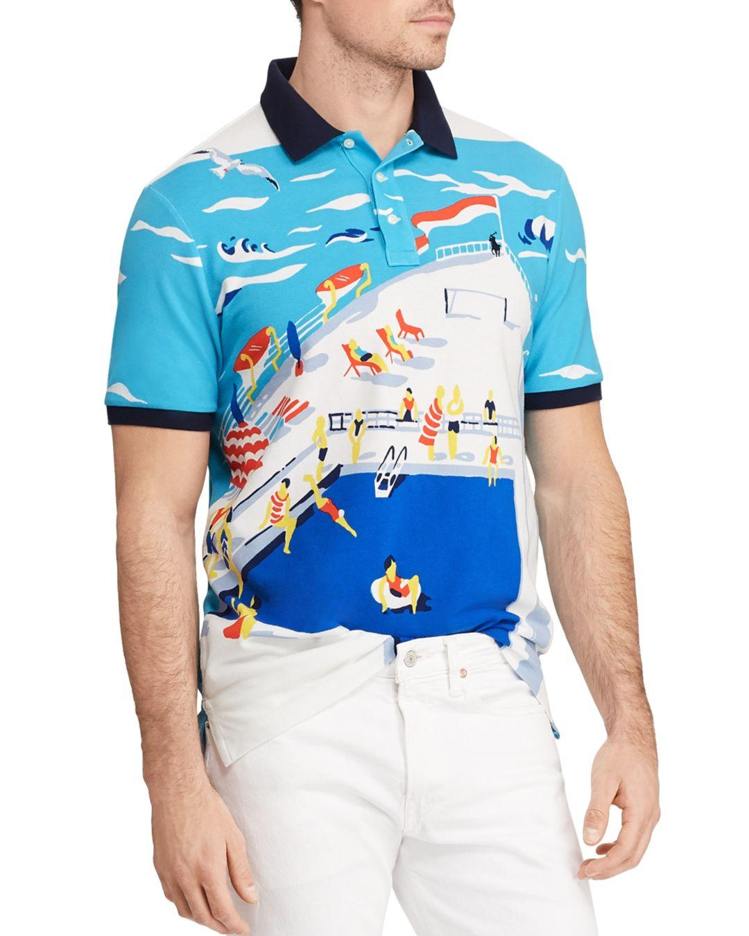 a5a9b27bd Polo Ralph Lauren Classic Fit Cruise Mesh Polo in Blue for Men ...