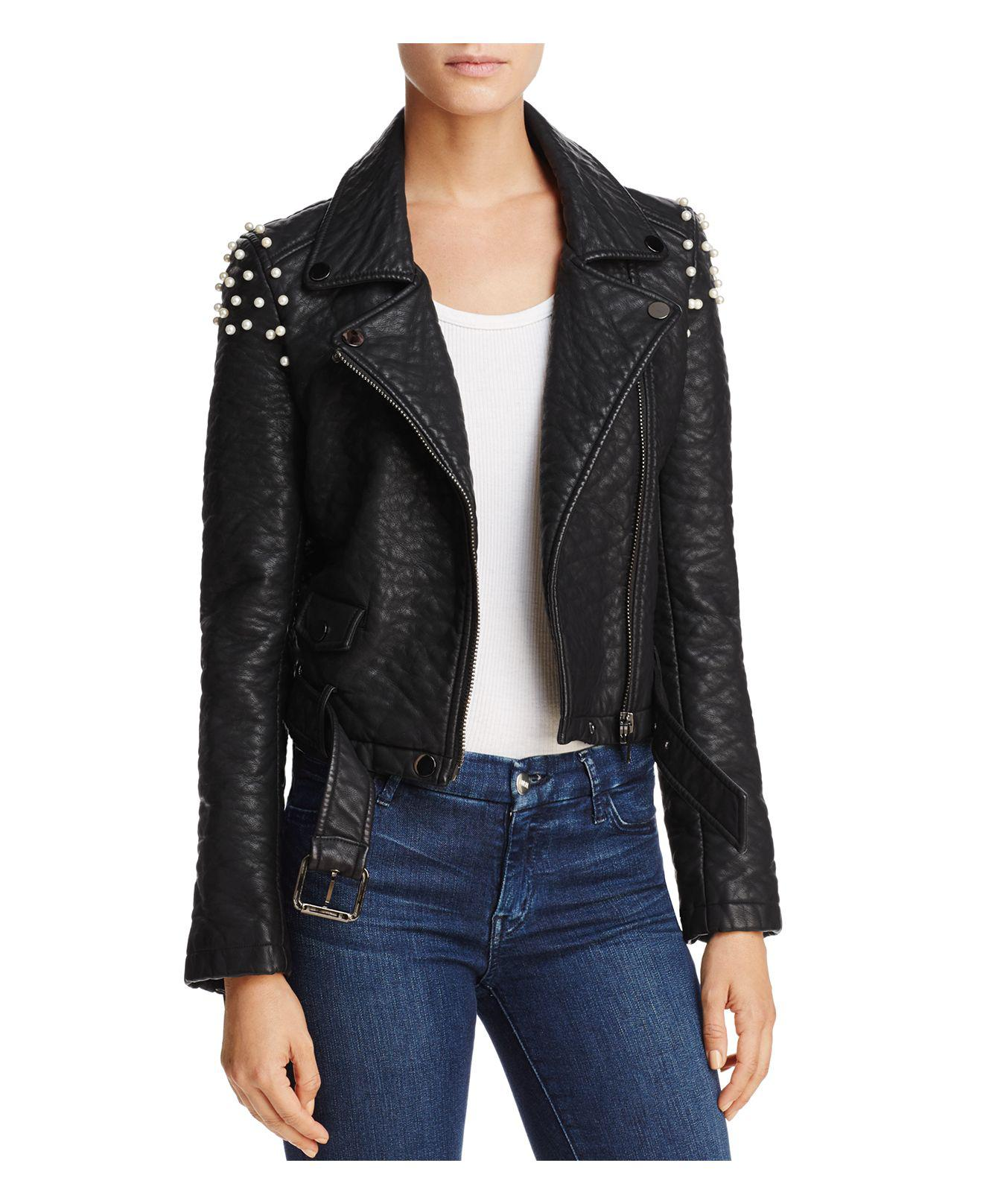 Joe S Jeans Taylor Embellished Faux Leather Motorcycle