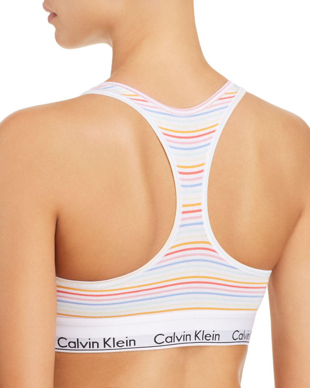 a72596da0d Lyst - Calvin Klein Modern Cotton Pride Bralette in White