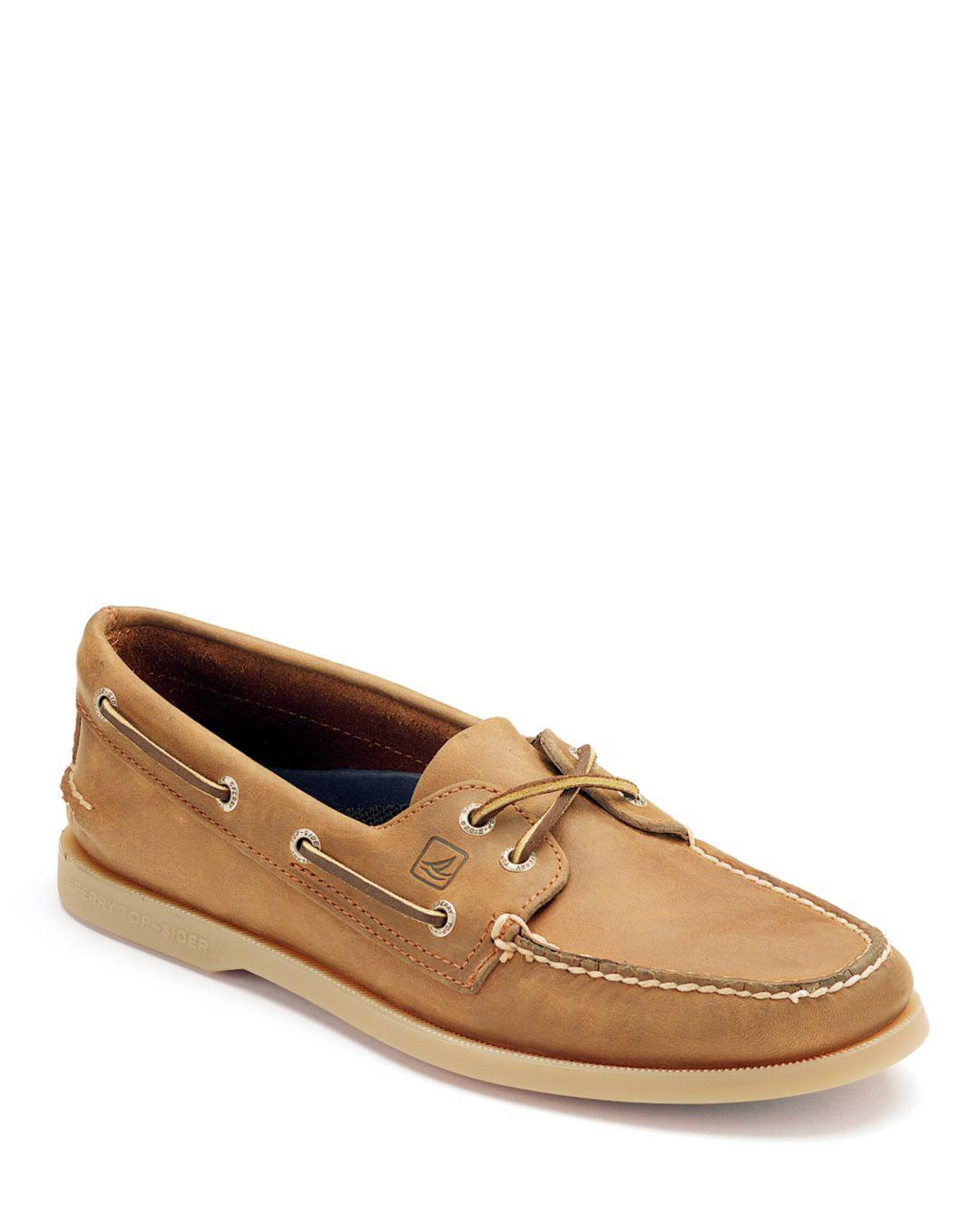Men S Authentic Original Two Eye Leather Boat Shoes
