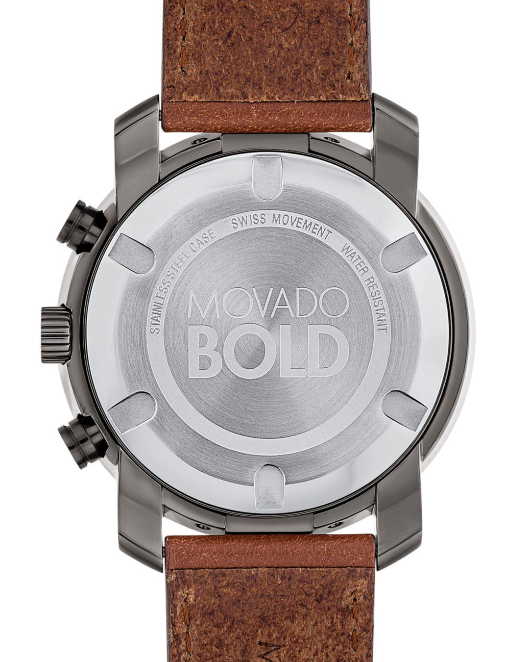 4010fb933 Lyst - Movado 44mm in Brown for Men - Save 30%