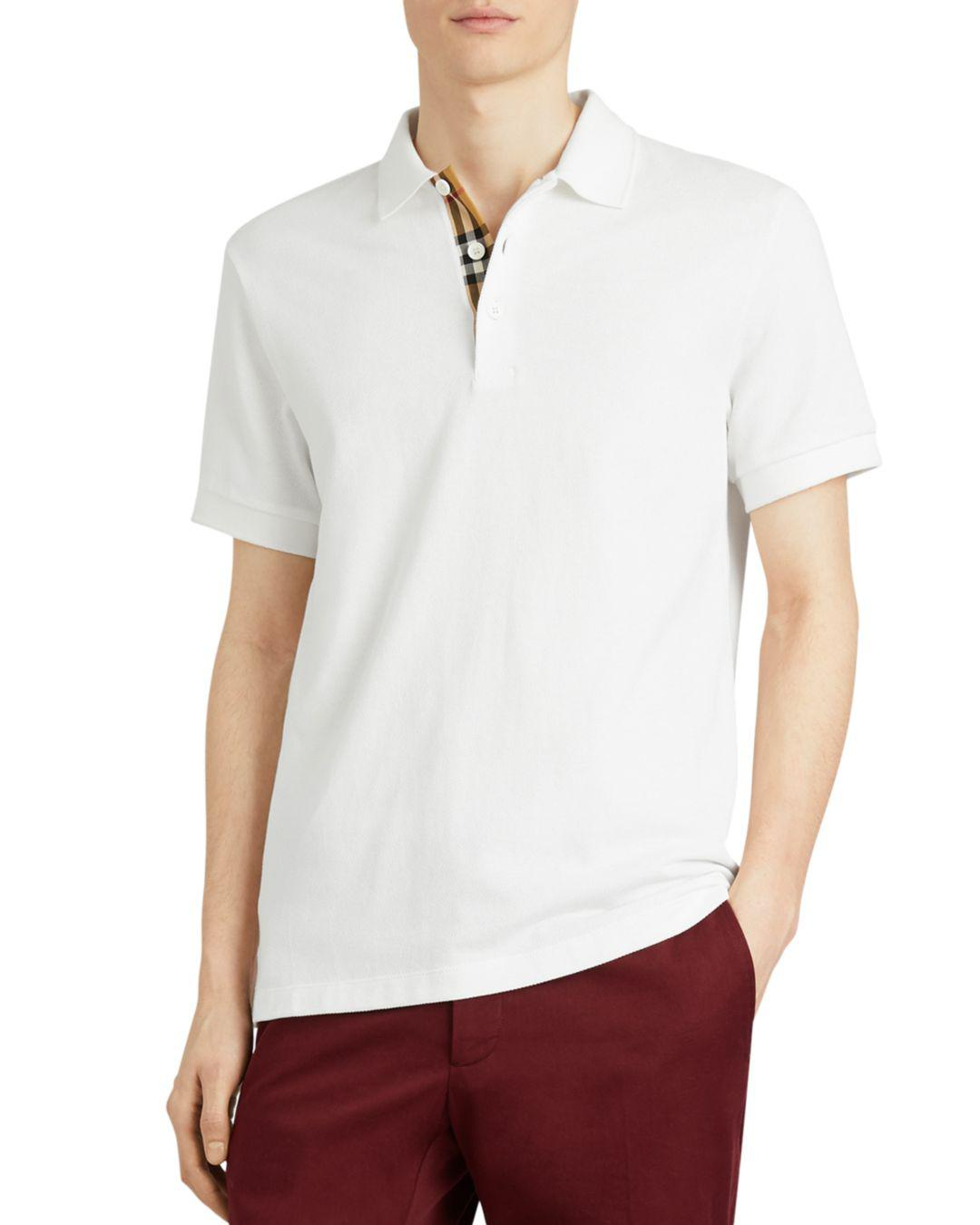 f81a15981 Lyst - Burberry Hartford Regular Fit Polo Shirt in White for Men
