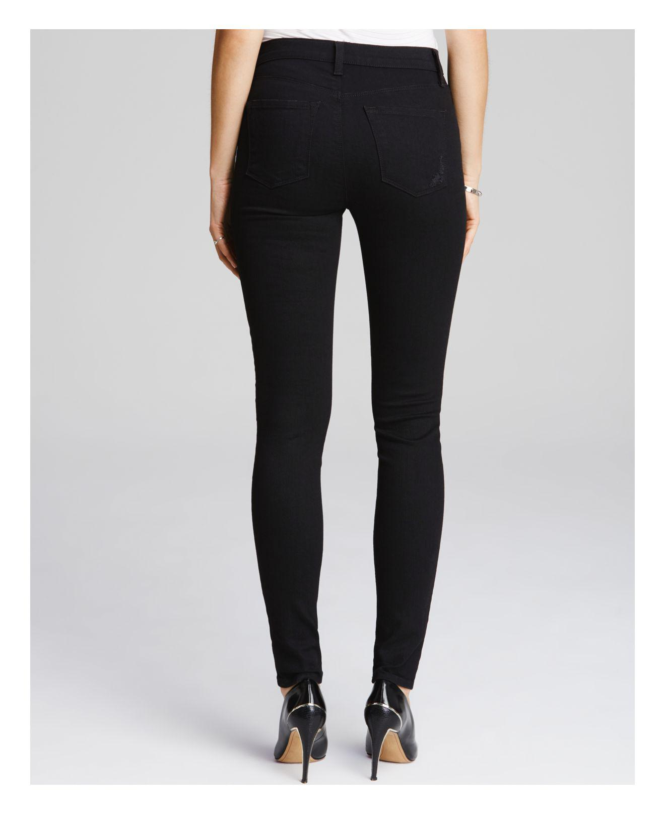 J Brand Denim Jeans - Photo Ready Maria High Rise Destructed In Blackheart