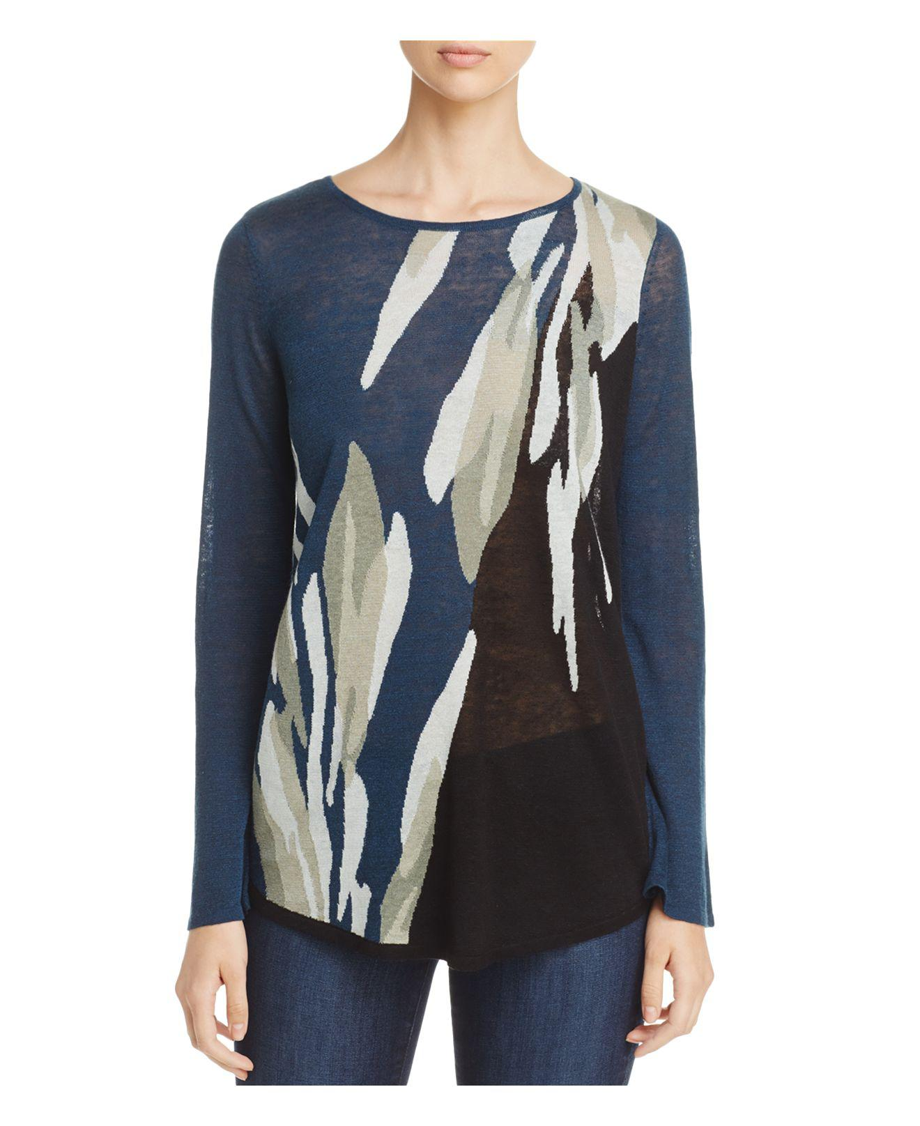 Nic Zoe Wild Thyme Long Sleeve Top In Blue Lyst