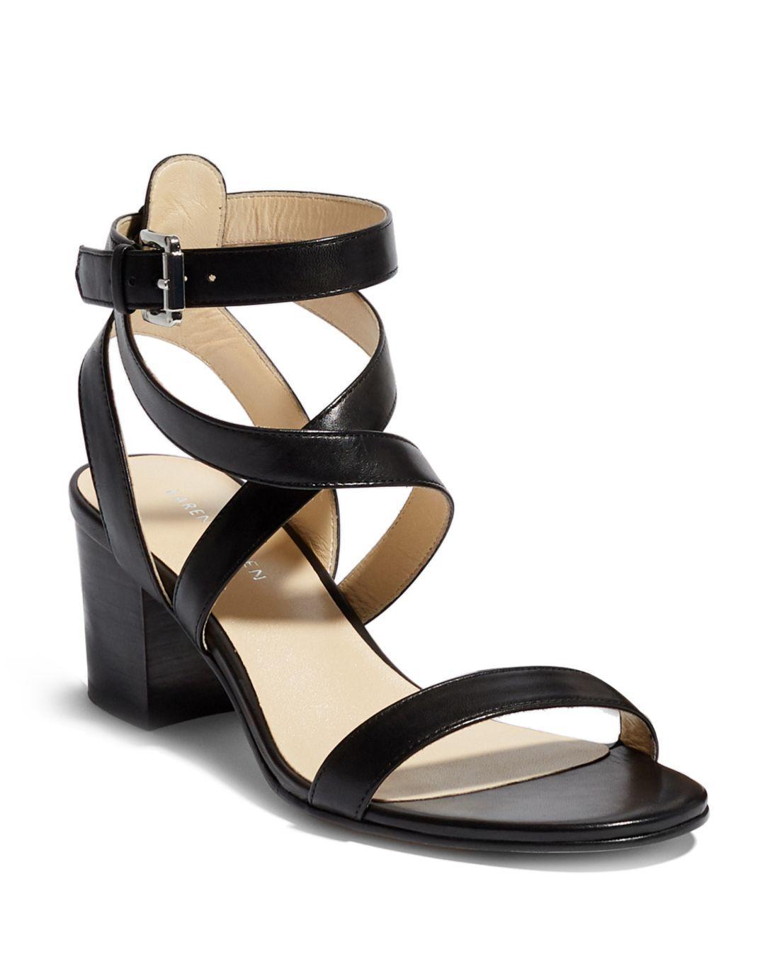 856d6a2d709 Lyst - Karen Millen Women s Strappy Block Heel Sandals in Black