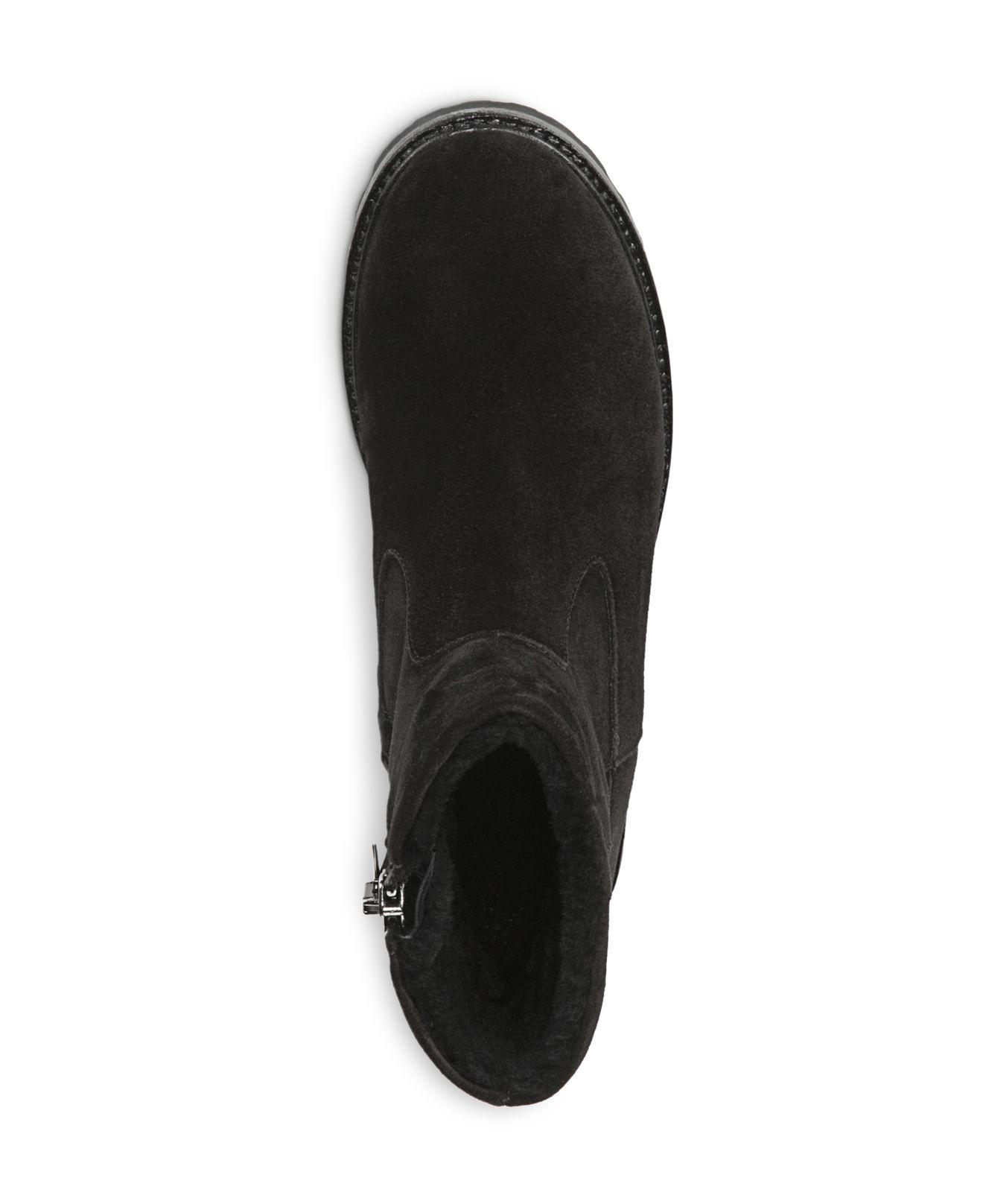 Vince Women's Frances Suede And Shearling Booties in Black