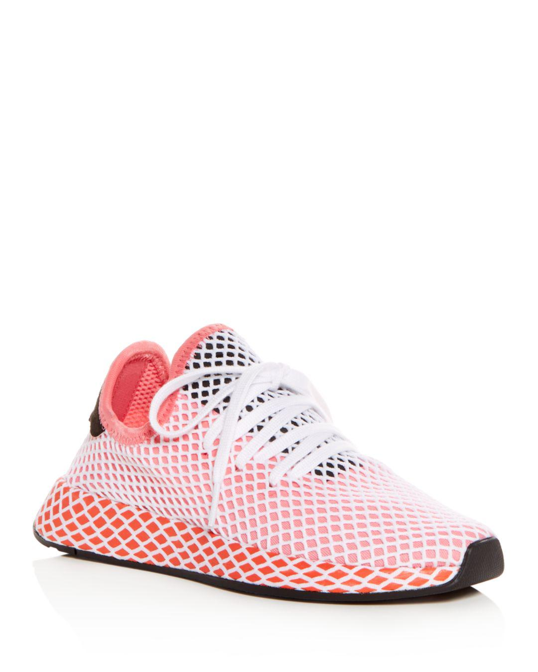 61eaacc5a adidas Women s Deerupt Net Lace Up Sneakers in Pink - Save 52% - Lyst