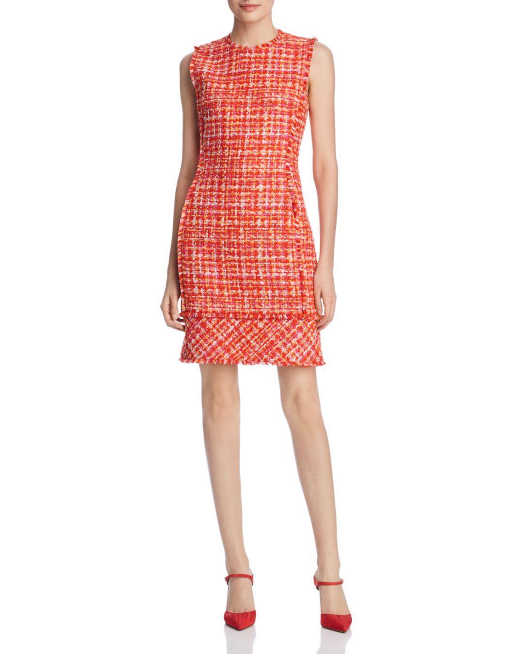 01f7a271b0e2 Elie Tahari Andrea Tweed Sheath Dress in Red - Save 46% - Lyst