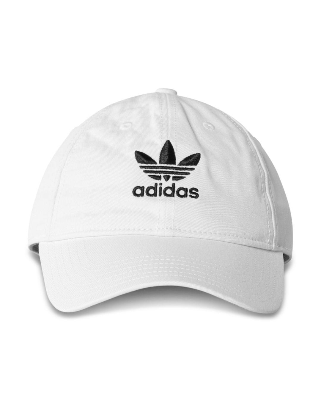 ff7853ef558 adidas Originals Relaxed Strapback Cap in White for Men - Save 53 ...