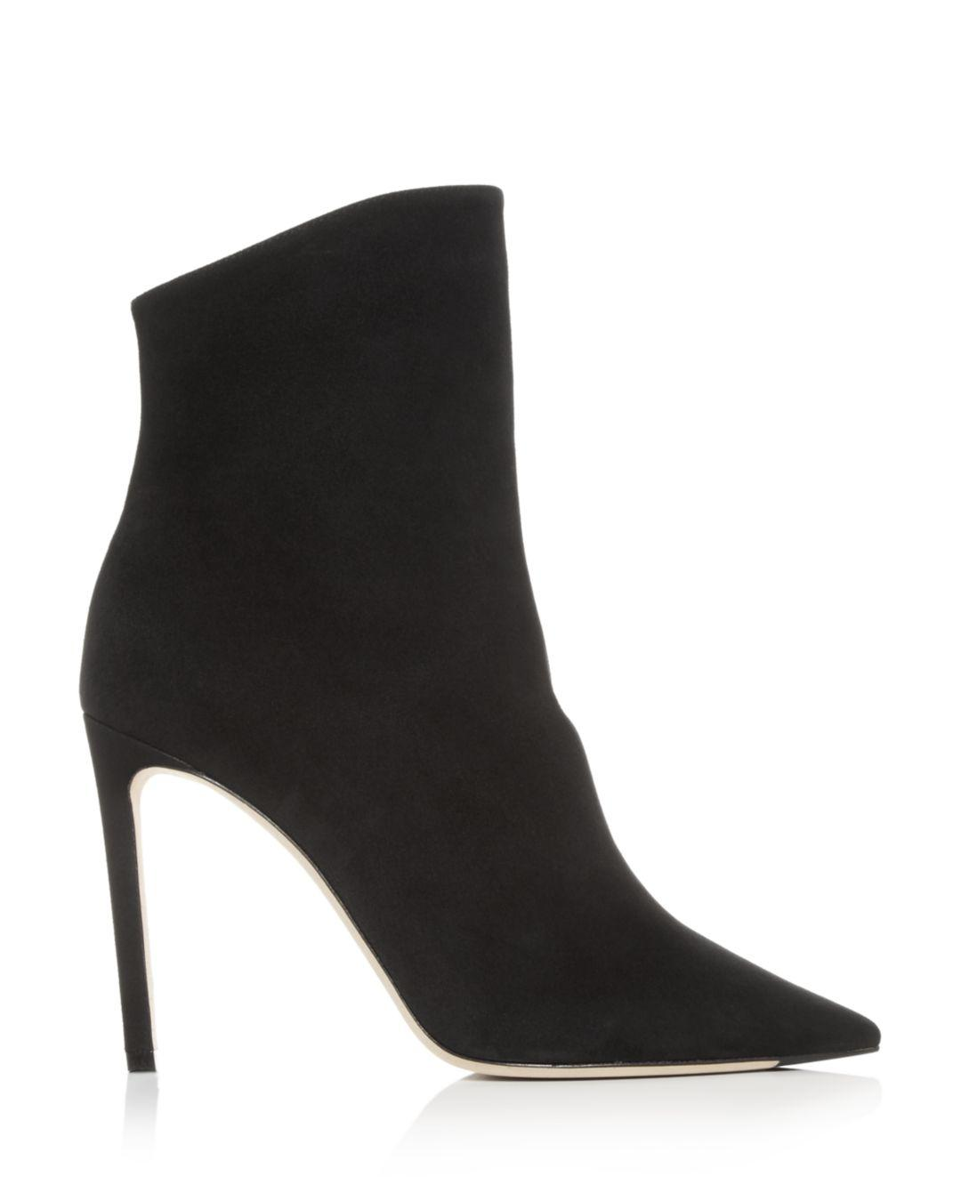Jimmy Choo Suede Hurley 100 Boots in Black