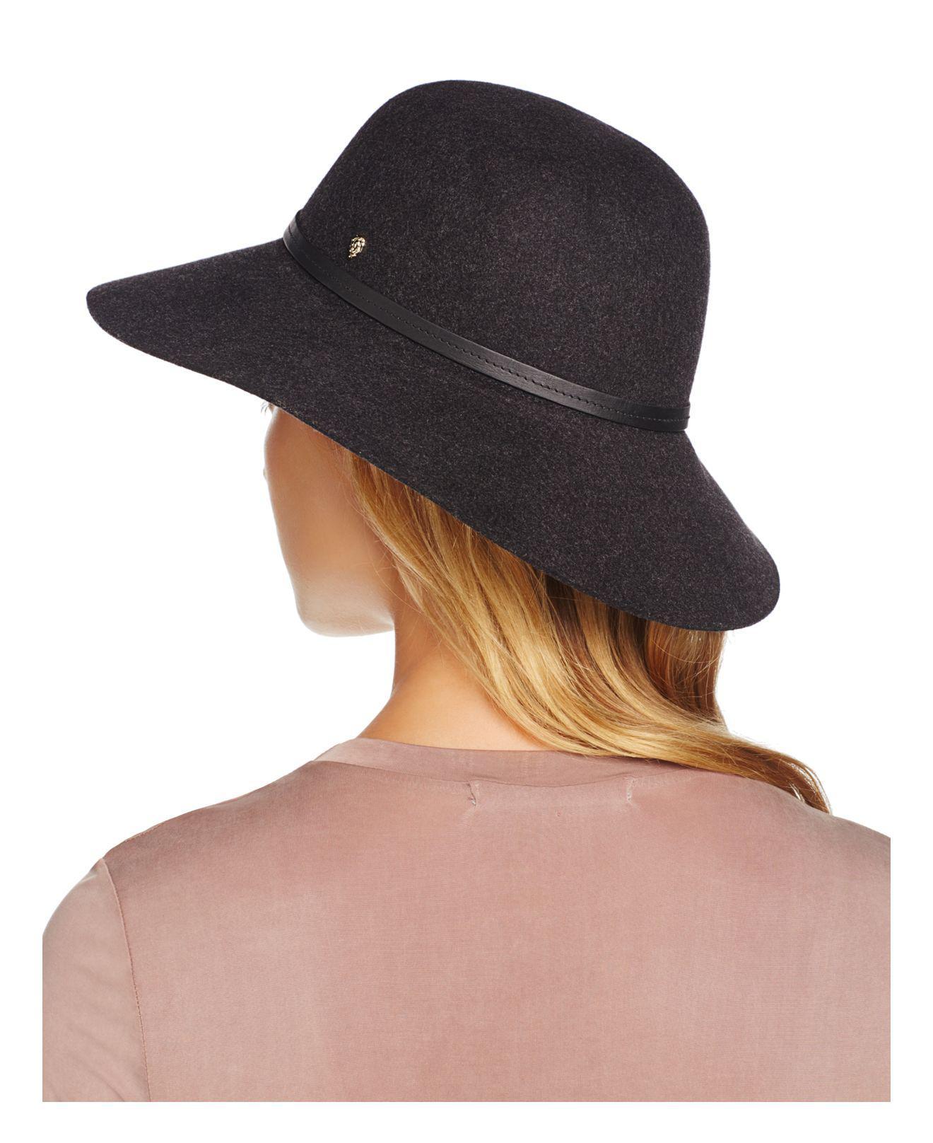 5b6378671e951 Helen Kaminski Marcie Wool Round Hat in Gray - Lyst