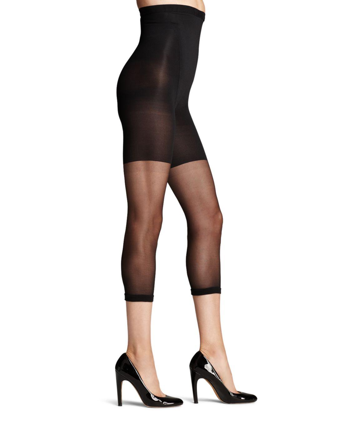 1be0f846d66 Spanx In-power Line Super Footless Shaper Tights in Black - Lyst