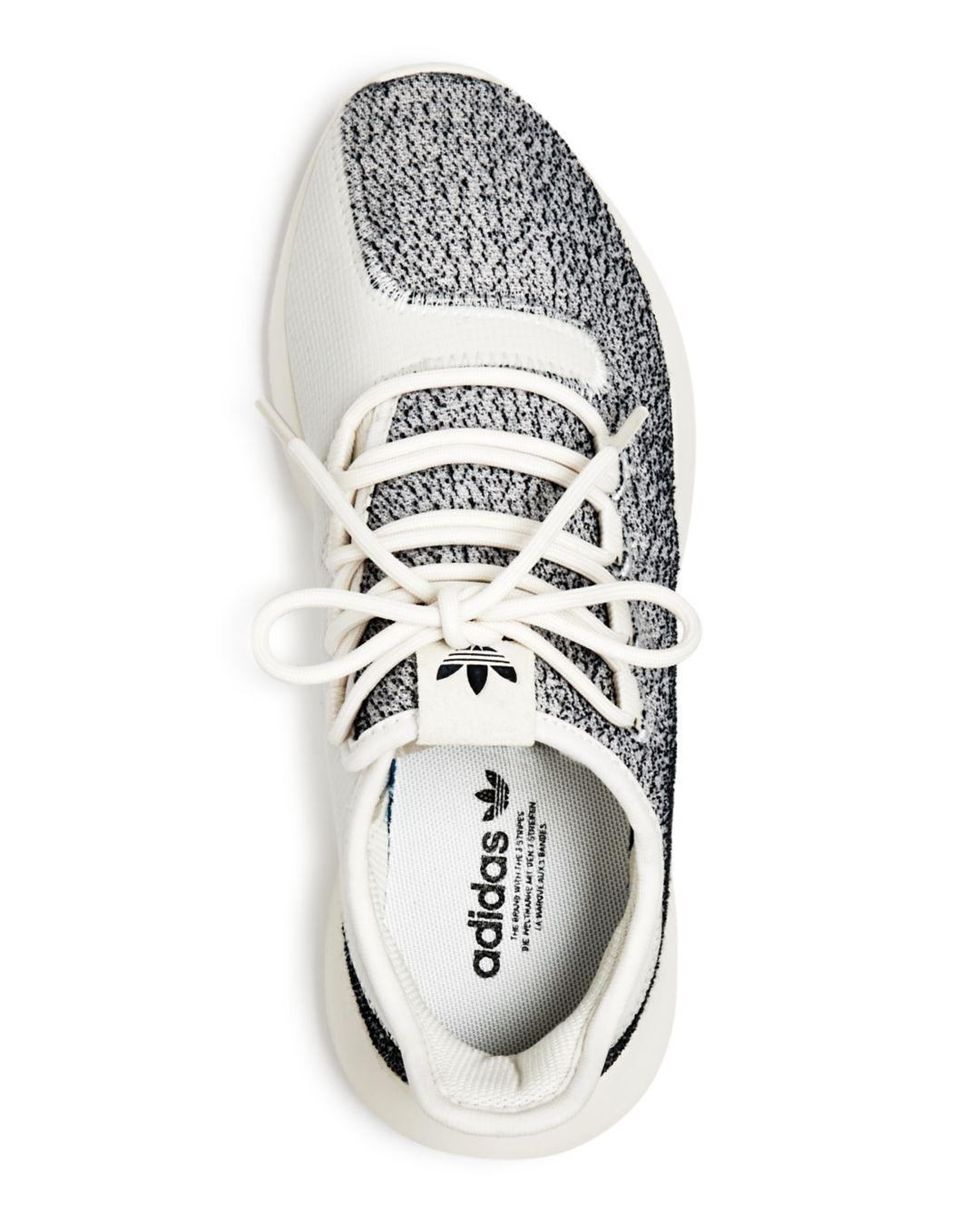 adidas Women's Tubular Shadow Lace Up Sneakers in White