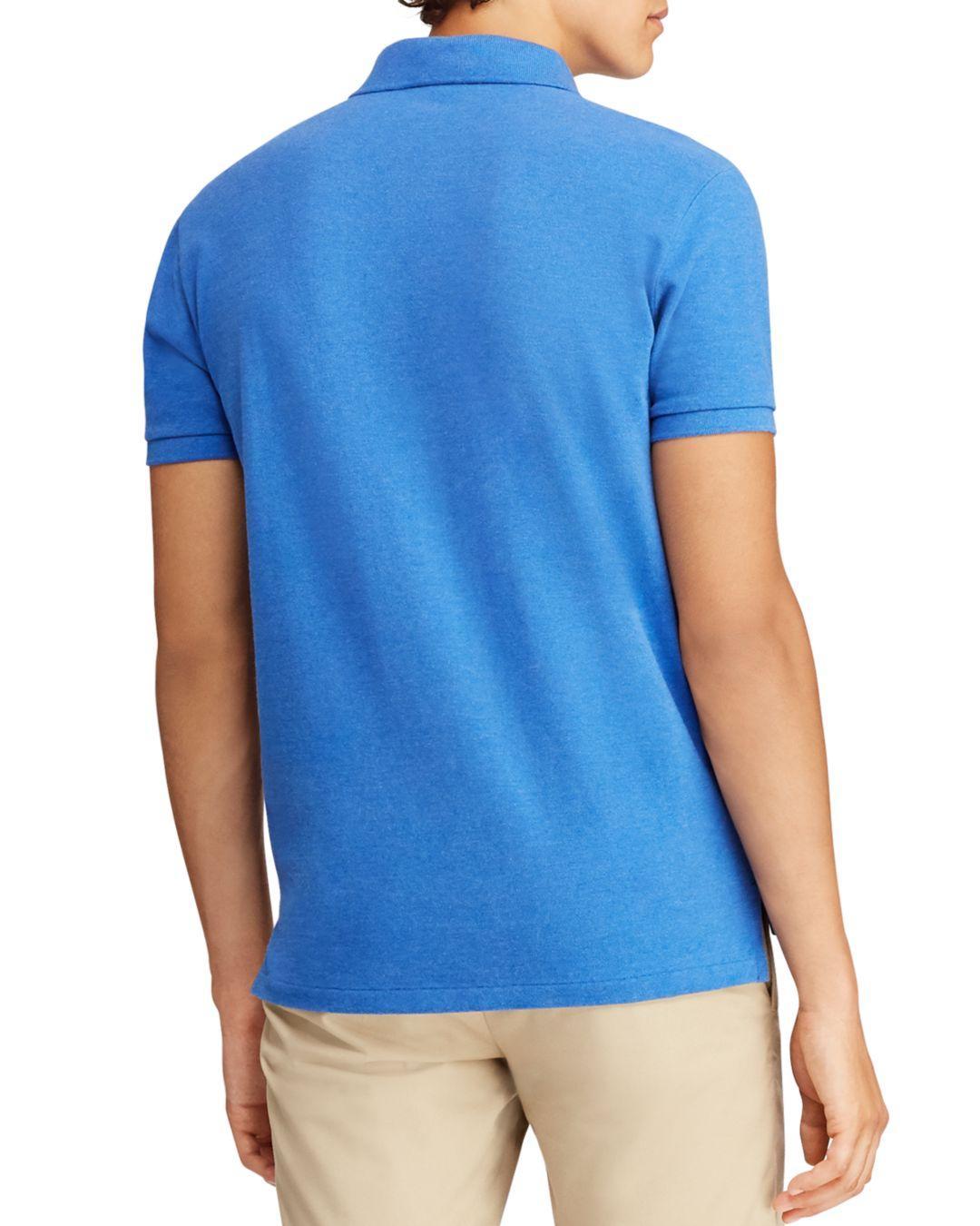 69368154 Lyst - Polo Ralph Lauren Custom Slim Fit Mesh Short Sleeve Polo Shirt in  Blue for Men - Save 31%