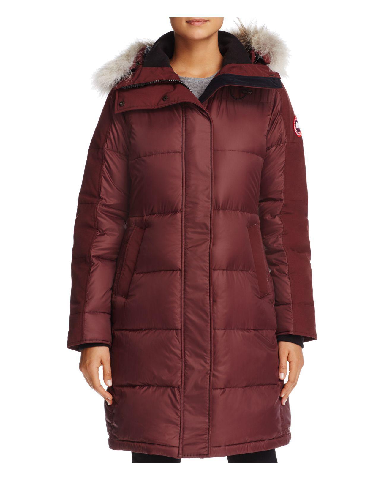 ... Kensington; Canada goose Rowley Fur Trim Down Parka in Red Lyst