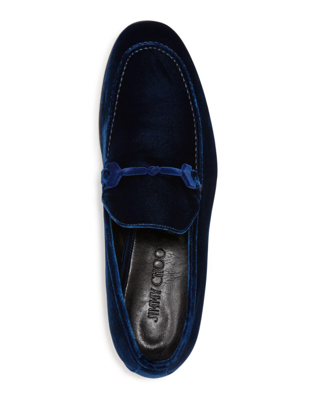 f3edf03b611 Lyst - Jimmy Choo Men s Marti Loafers in Blue for Men