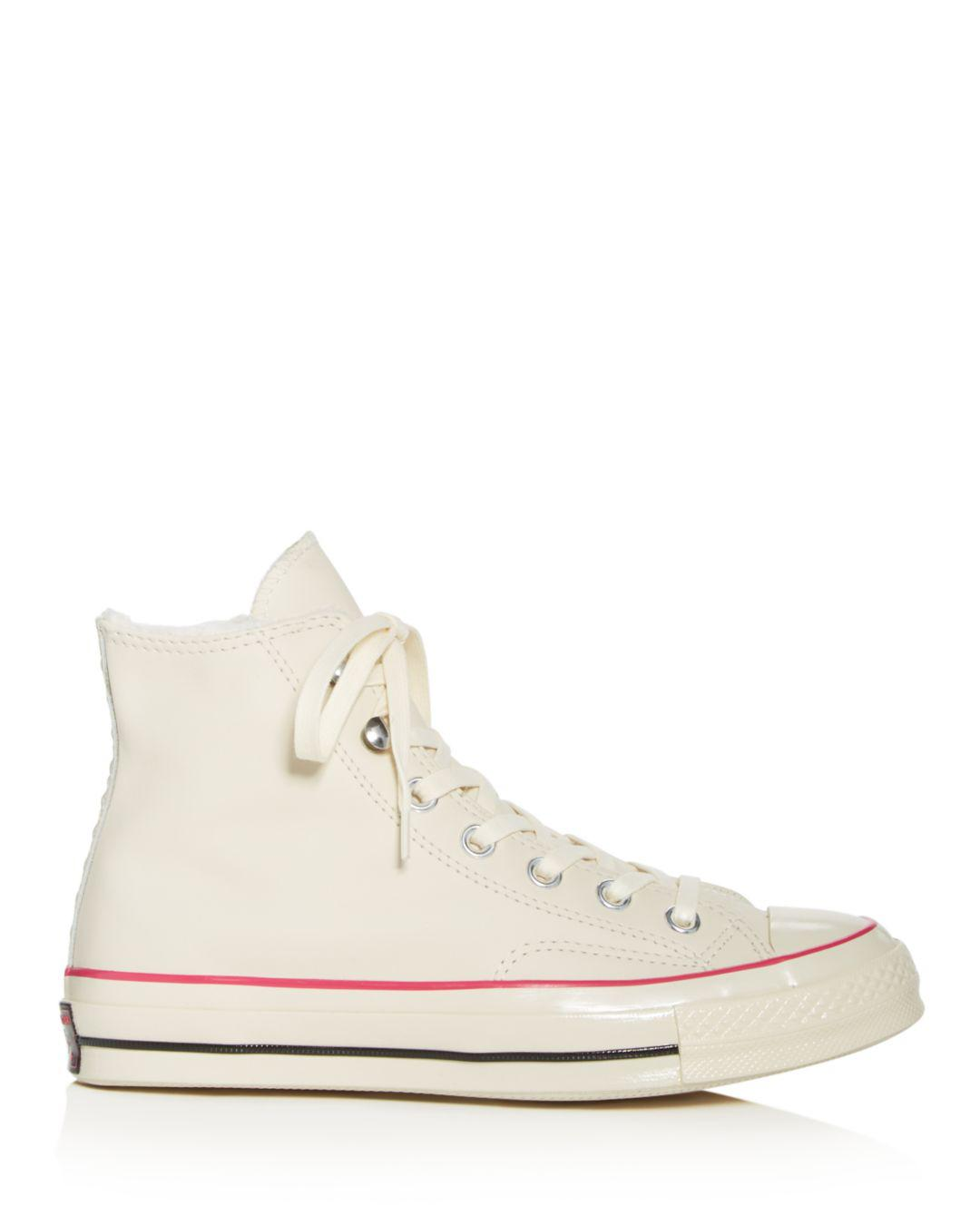 07e3babf7f1 Lyst - Converse Women s Chuck Taylor All Star Faux-fur High-top Sneakers -  Save 58%