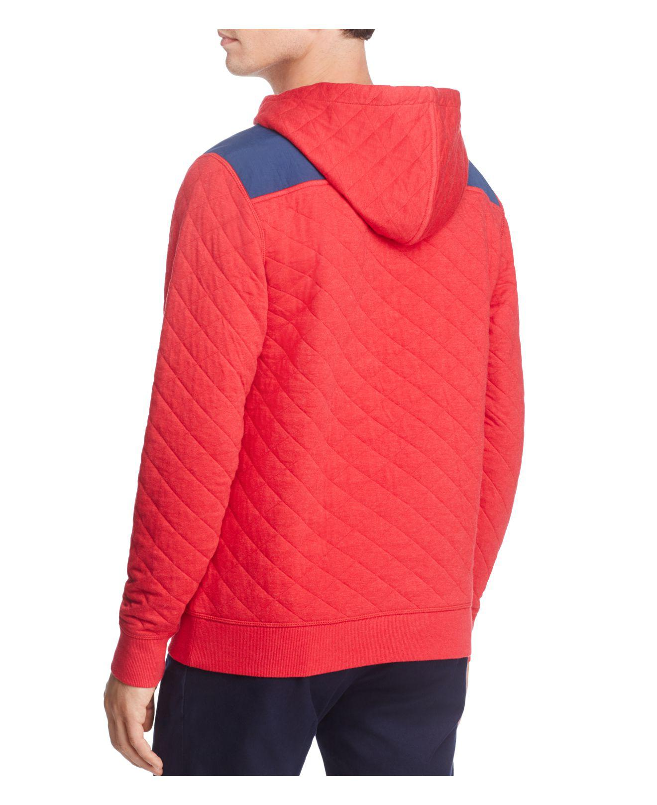 Lyst Vineyard Vines Shep Quilted Pullover Hoodie In Red