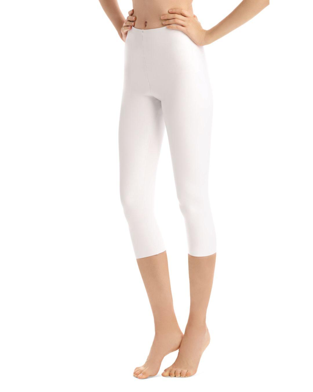 16c636969991be Lyst - Commando Perfect Control Faux Leather Capri Leggings in White