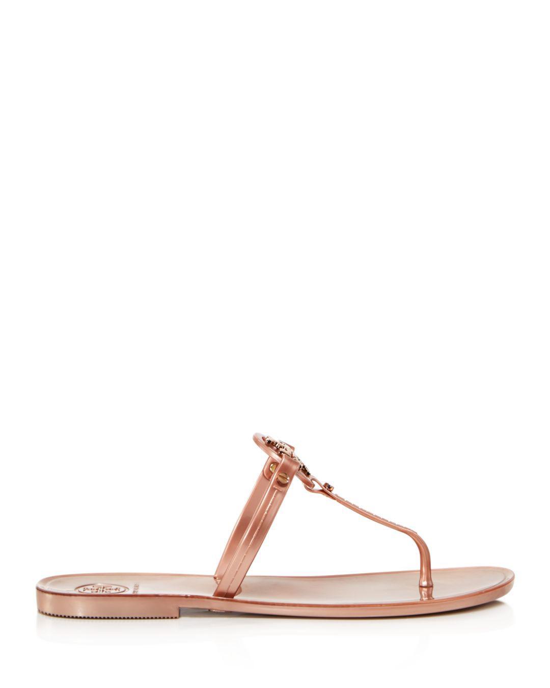 2756d707d50 Lyst - Tory Burch Mini Miller Jelly Flat Thong Sandals