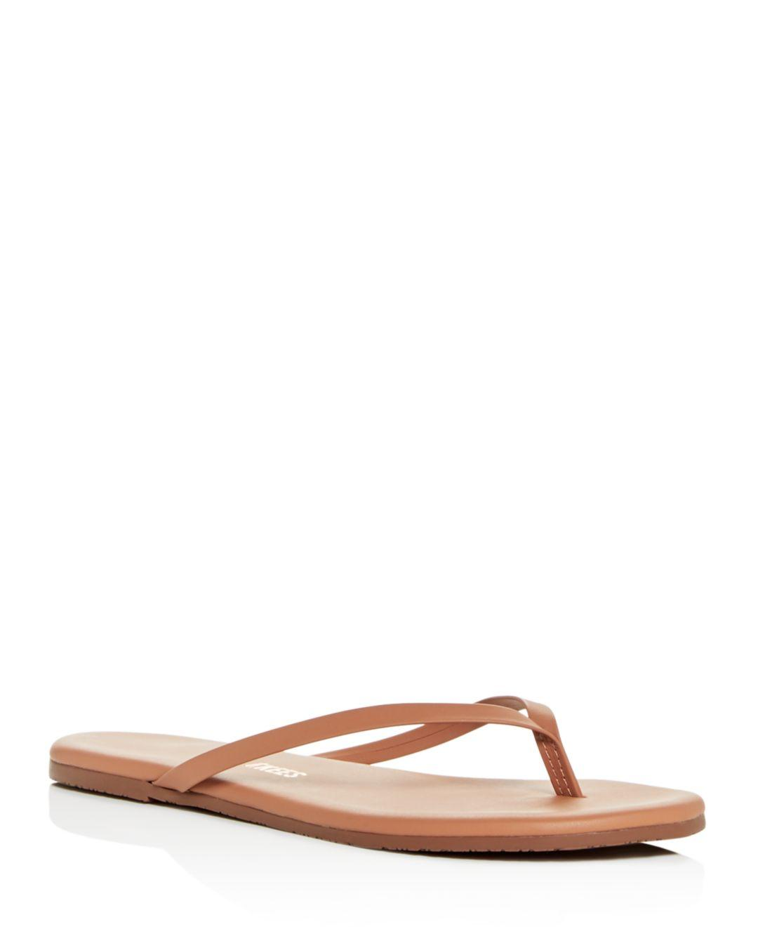 Tkees Womens Foundations Leather Flip - Flops - Lyst-8594