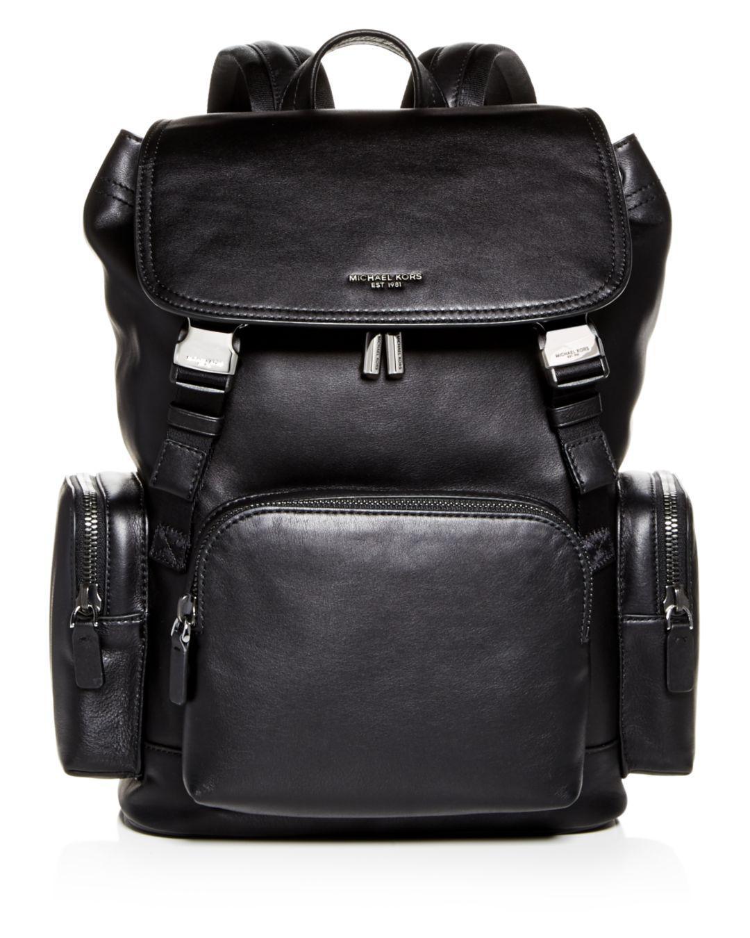 Michael Kors Henry Leather Rucksack in Black for Men - Save 60% - Lyst 6b8dda20cd98c