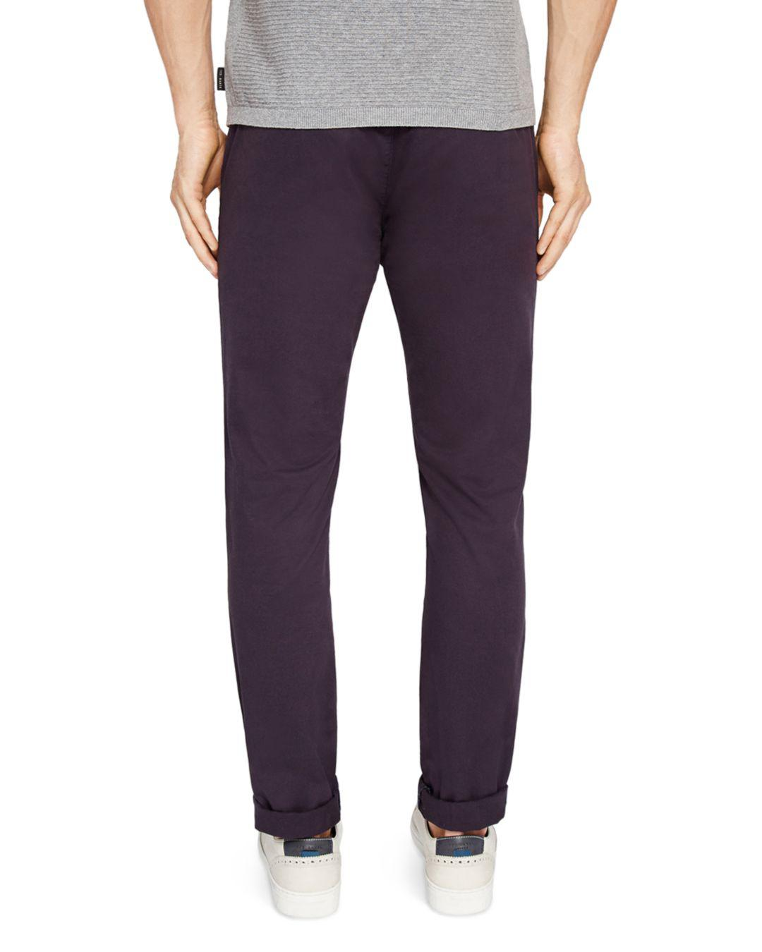 e58cb855d Lyst - Ted Baker Tapcor Tapered Fit Chino Pants in Blue for Men