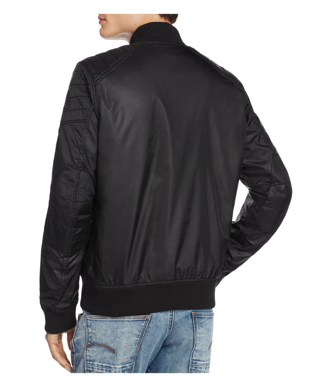 3fdefdbe8 G-Star RAW Meefic Suzaki Bomber Jacket in Black for Men - Lyst
