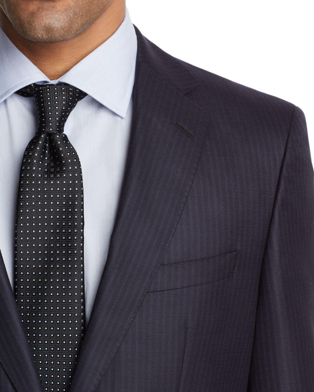 b99851ae7 BOSS Johnstons/lenon Regular Fit Tonal Stripe Suit in Blue for Men ...