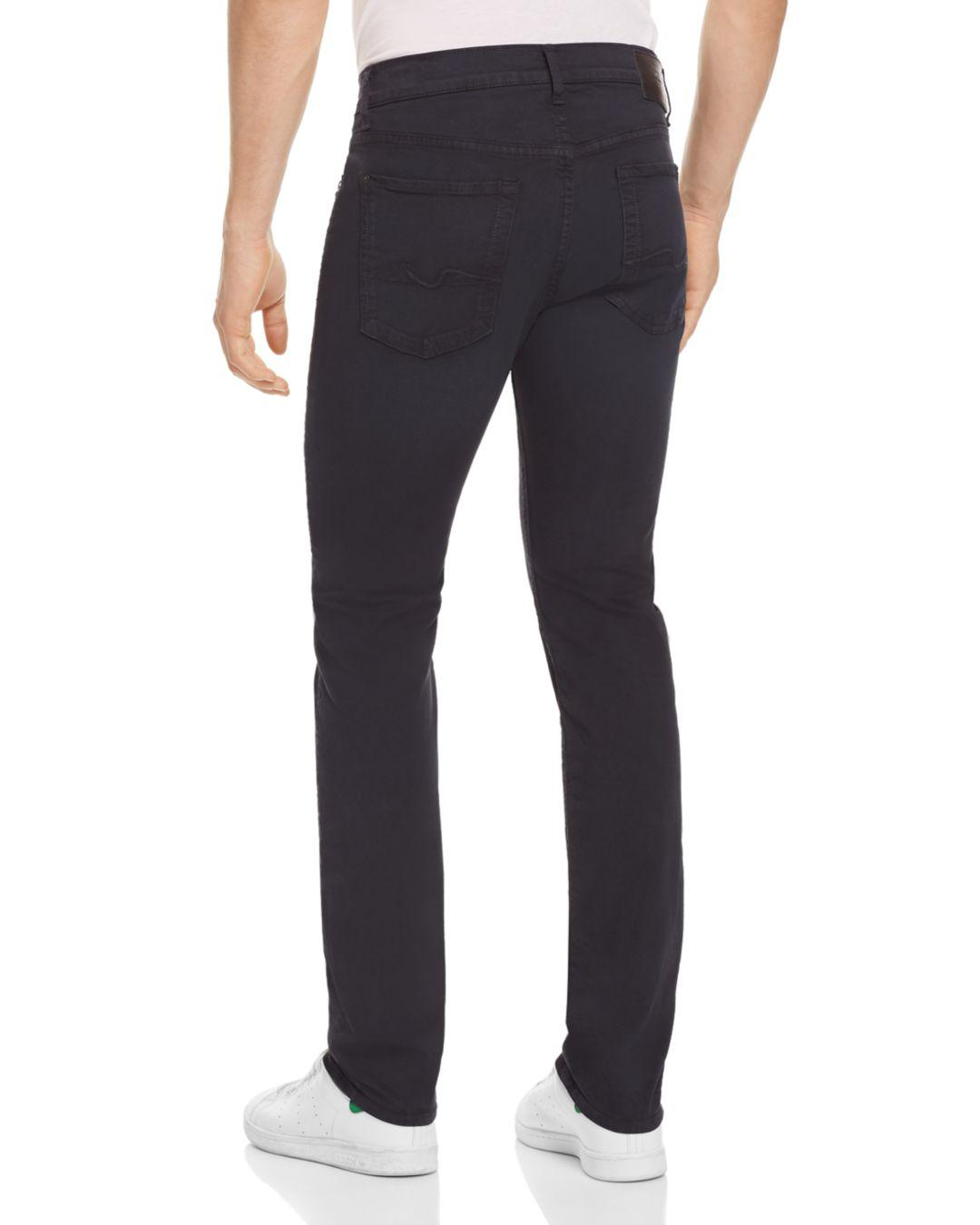 7 For All Mankind Denim Adrien Slim Fit Jeans In Deep Sea in Blue for Men