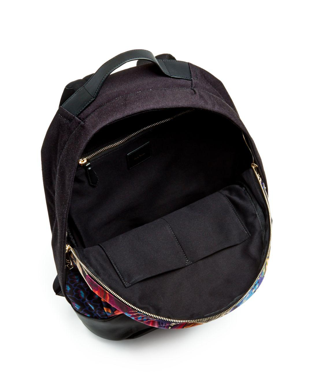 Lyst - Paul Smith Dreamer Print Leather Backpack in Black for Men 90b5bc939