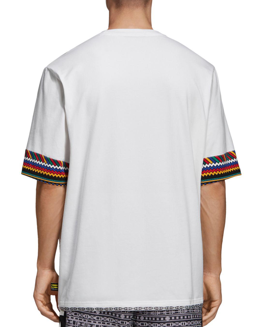 53fa93209 adidas Originals X Pharrell Williams Solar Hu Trefoil Tee in White for Men  - Lyst