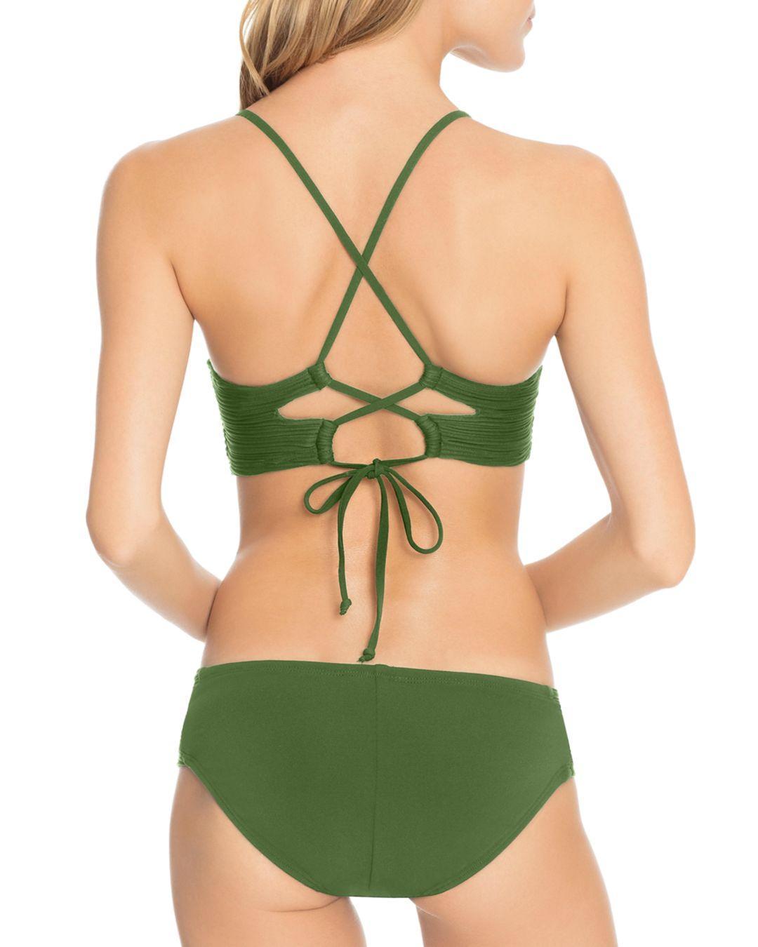 e6e6522963a8c3 Lyst - Robin Piccone Lily Twist Bra D-cup Bikini Top in Green