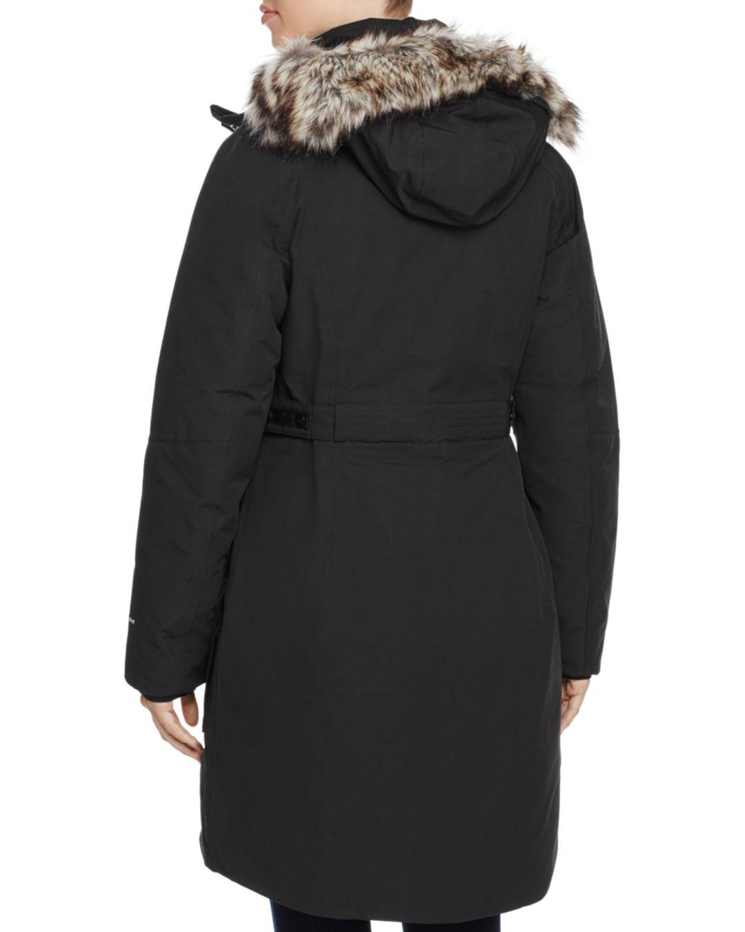 05f594ae96 Lyst - The North Face Outer Boro Faux Fur Trim Parka in Black