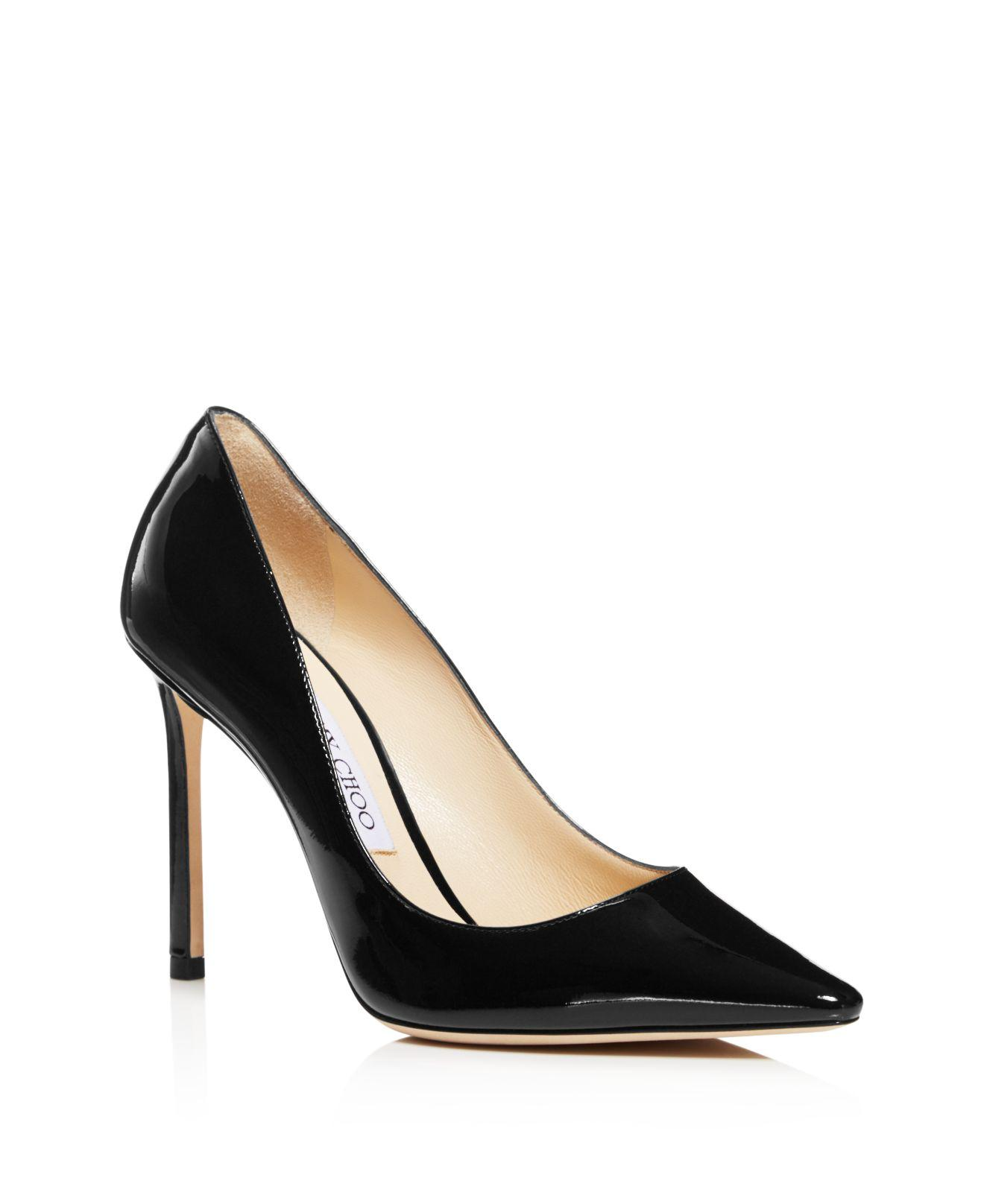 Jimmy choo Women's Romy 100 Patent Leather High-Heel Pointed Toe Pumps fPoAjbcmJG