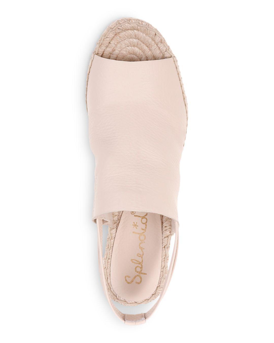 8f2e1bb8049 Splendid Women's Simon Leather Espadrille Wedge Sandals - Lyst