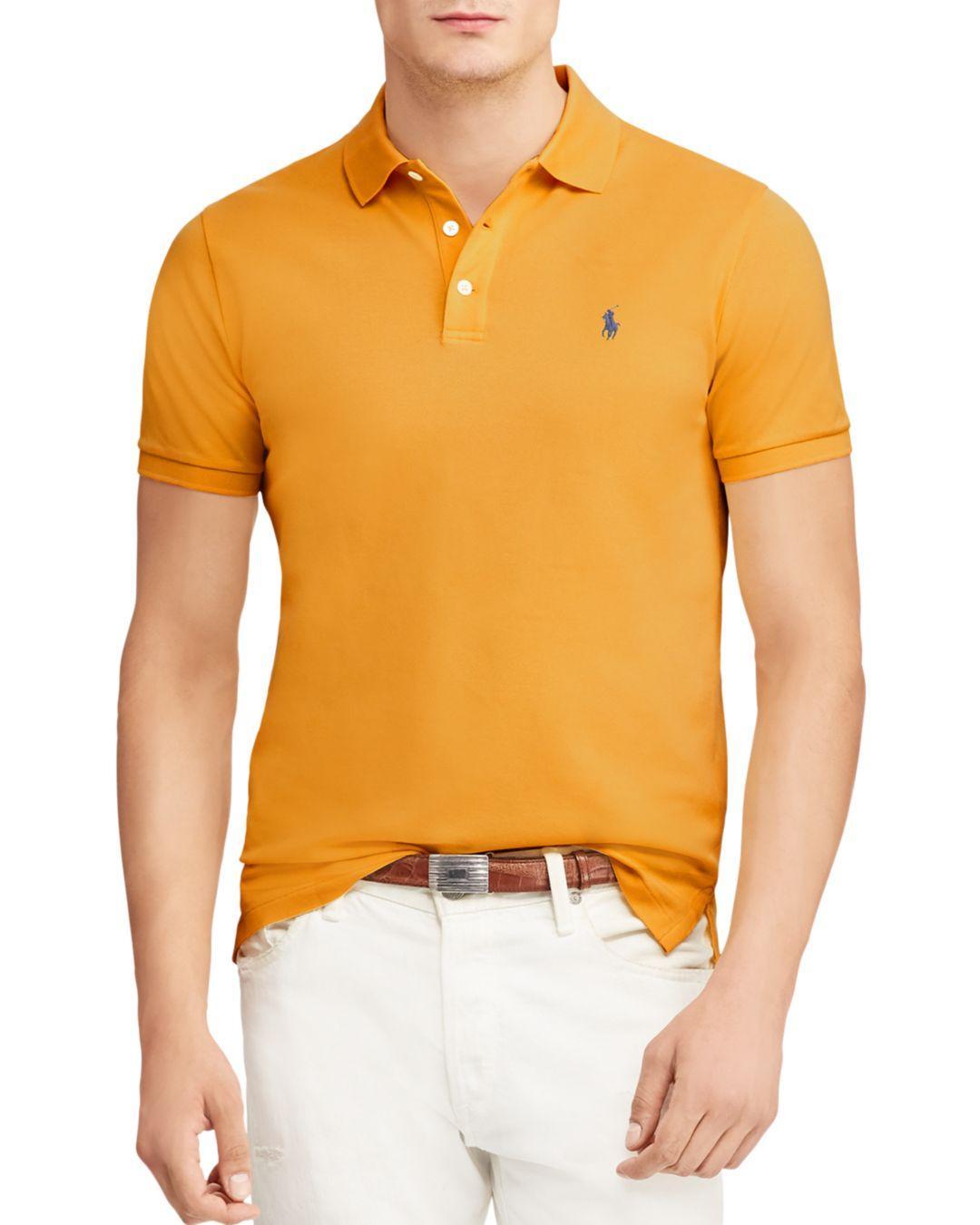 c2552171c8b Lyst - Polo Ralph Lauren Stretch Mesh Custom Slim Fit Polo Shirt in ...