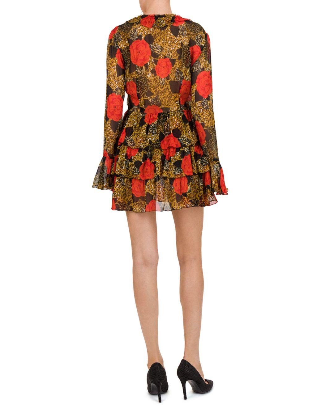 a84a3f016c The Kooples Jungle Flowers Dress in Red - Lyst