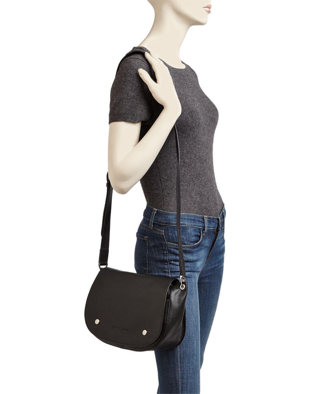 Le Foulonne Leather Saddle Bag