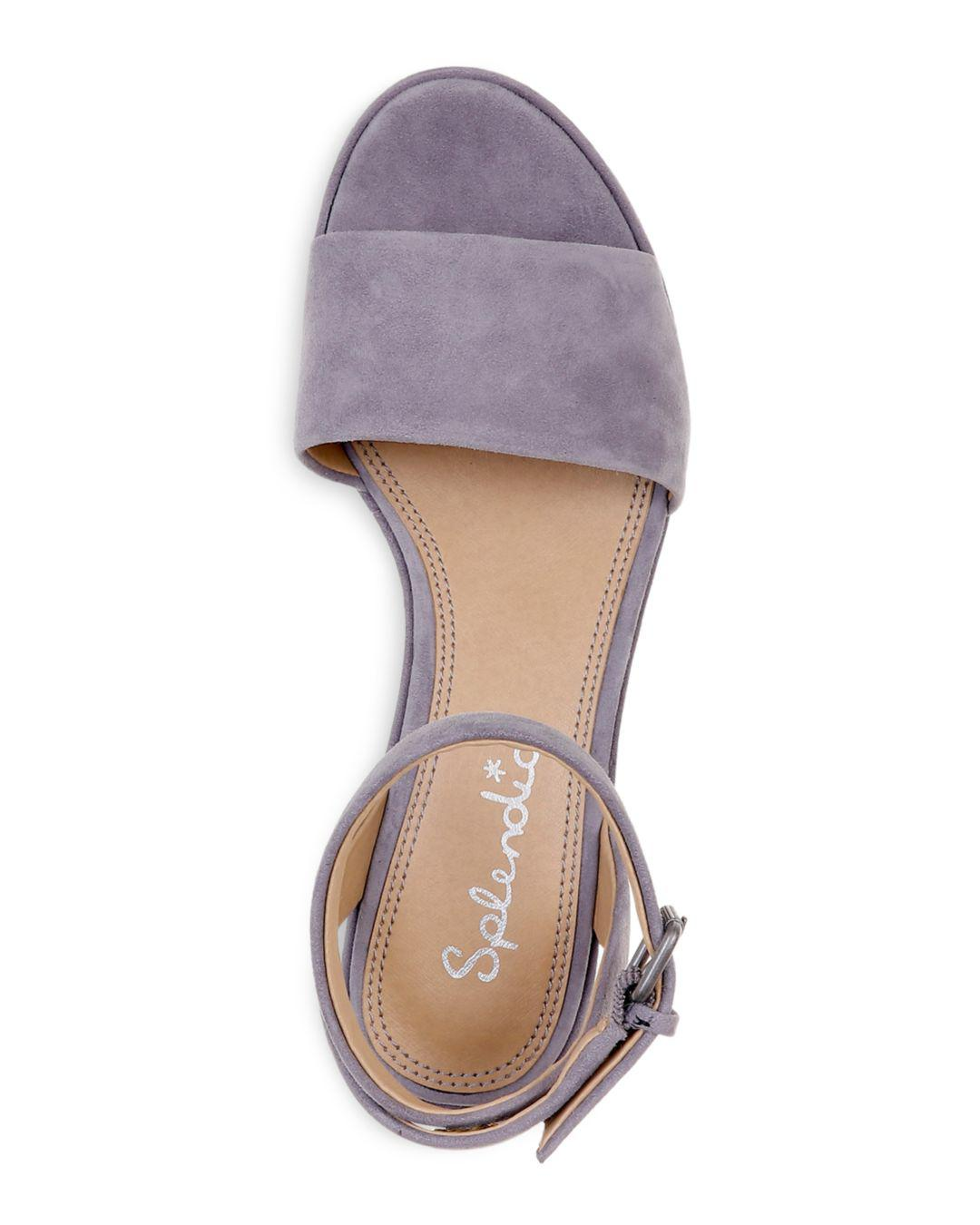 b673a0f32d91 Lyst - Splendid Women s Felix Suede Ankle Strap Platform Wedge Sandals