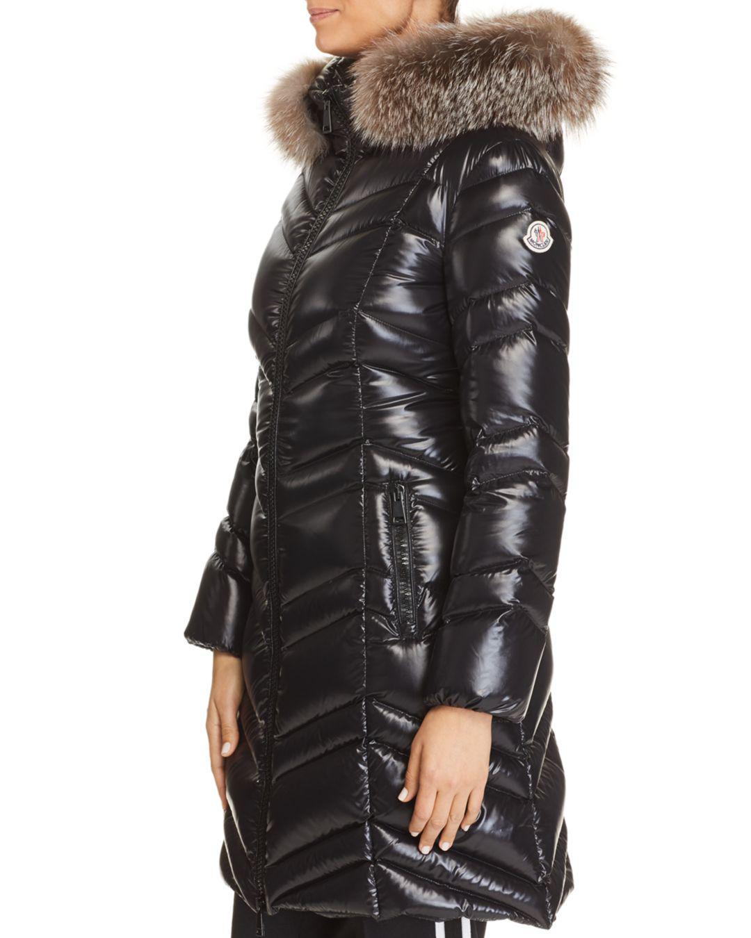 cfbff31b83e9 Moncler - Black Fulmar Fur Trim Jacket - Lyst. View fullscreen