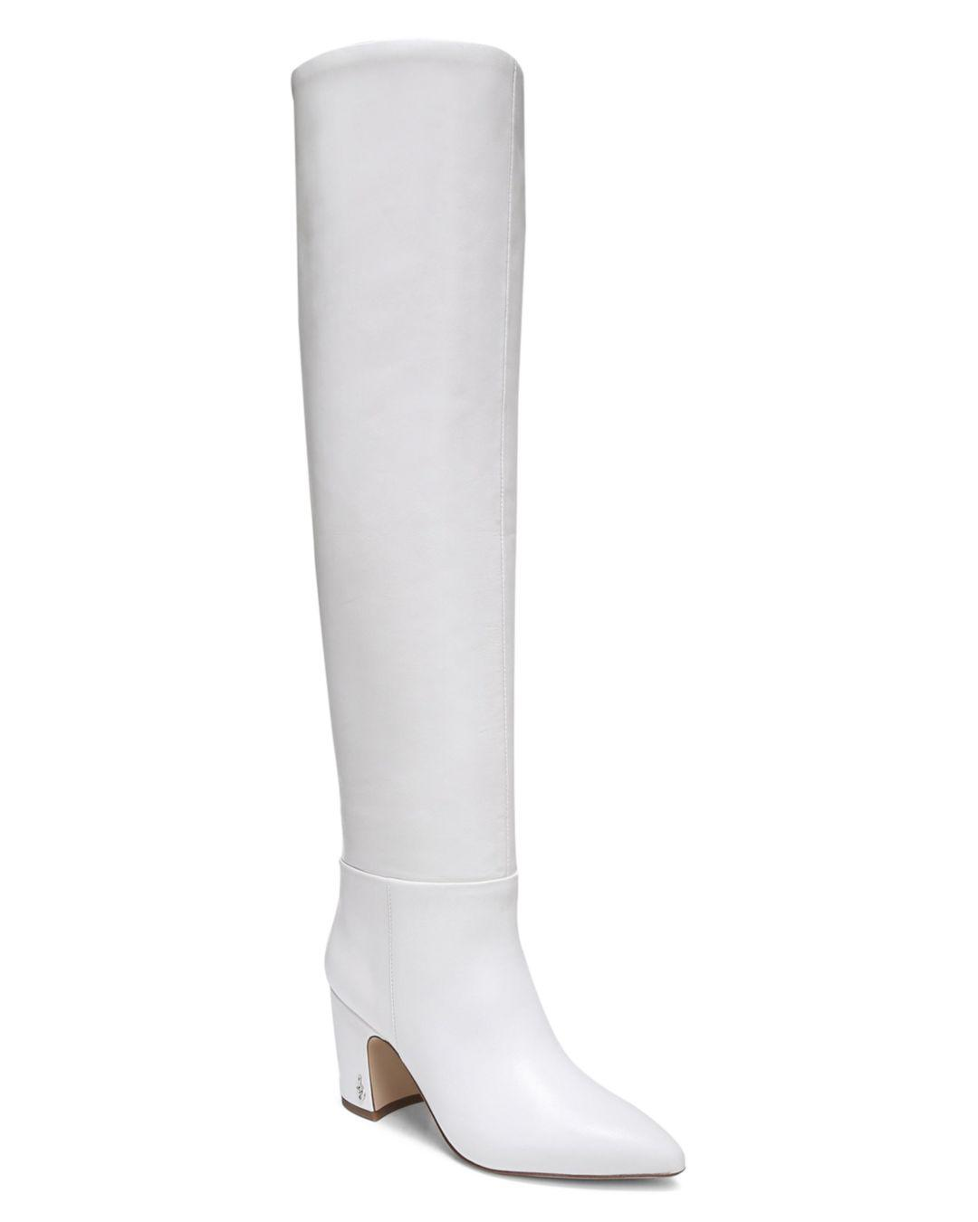 White Leather Boots Women