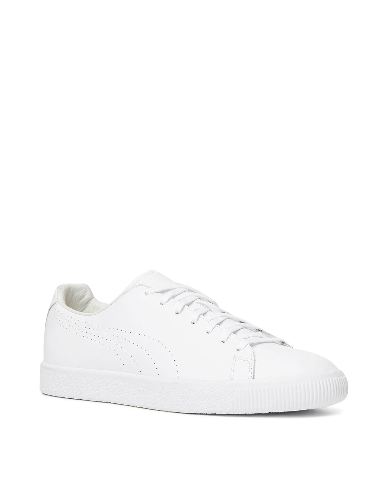 wholesale dealer 42ee7 78f3e The Kooples X Puma Clyde Lace Up Sneakers in White - Lyst