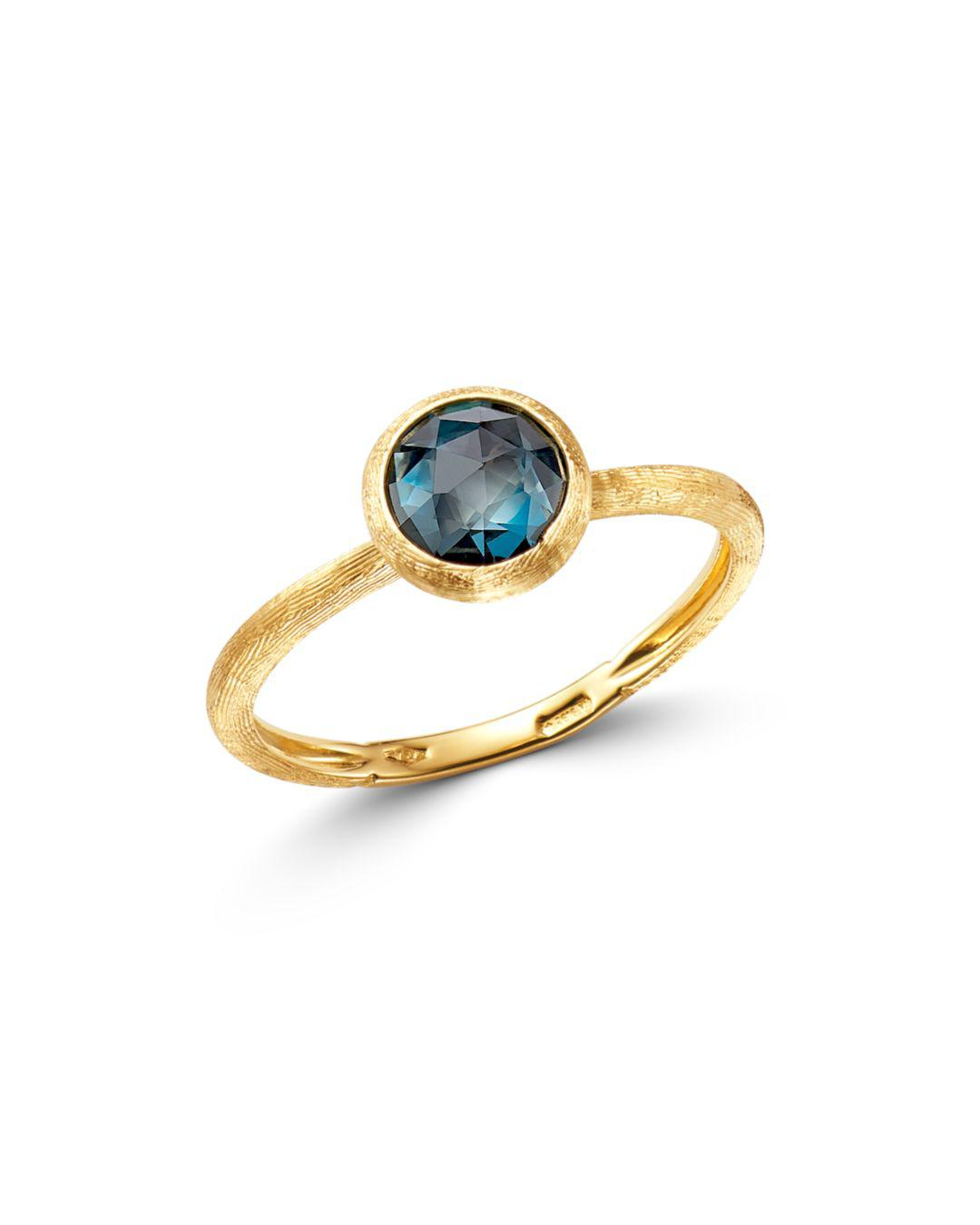 346542073b2af Women's 18k Yellow Gold Jaipur Color Stacking Ring With London Blue Topaz