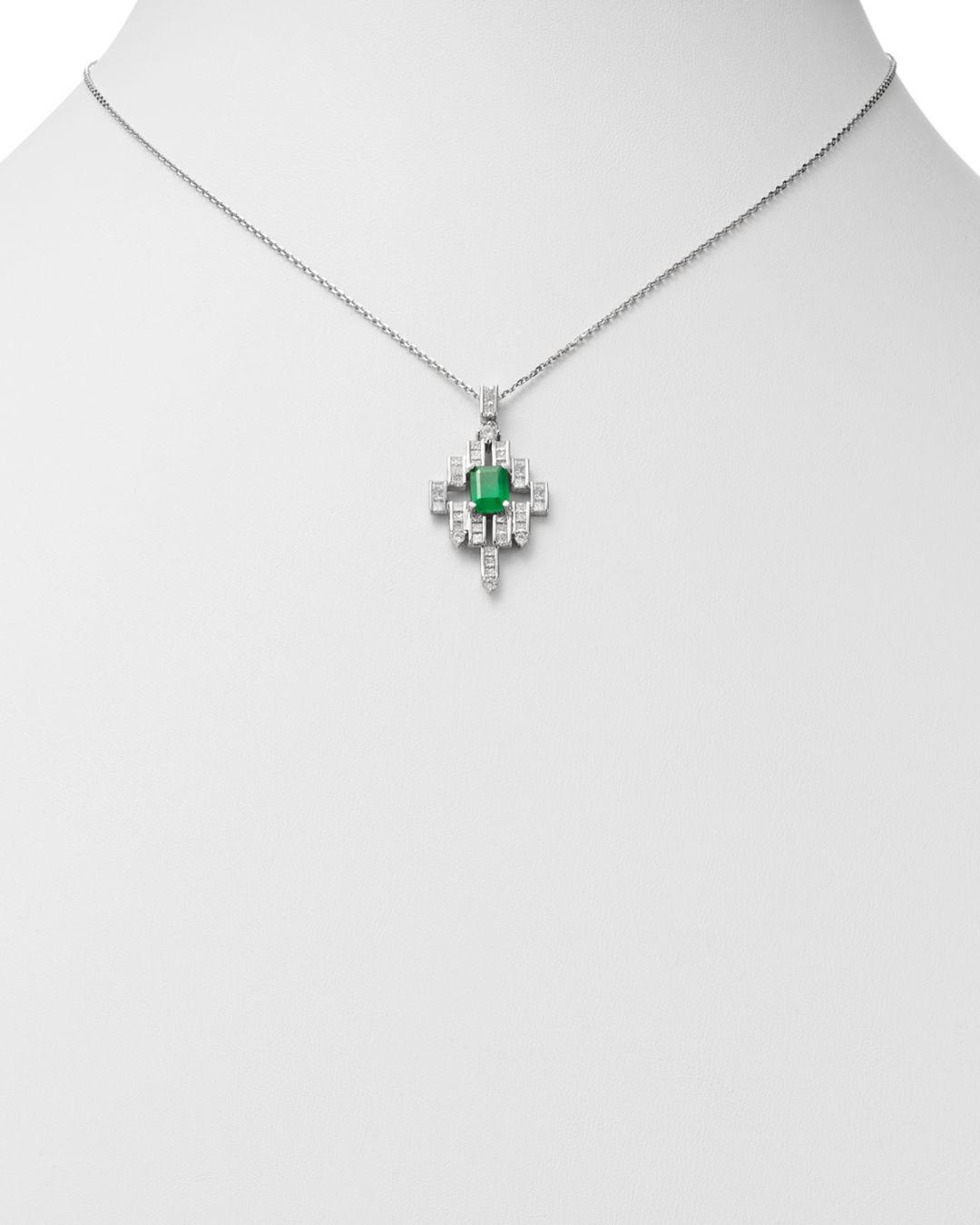 Bloomingdale's Emerald in Green/White (White)