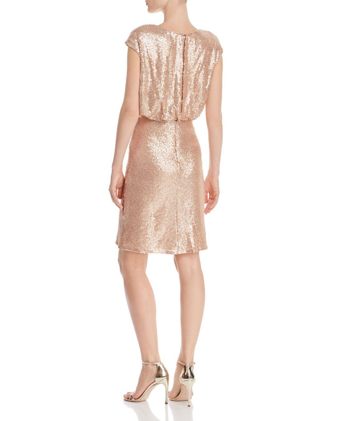 be0341d8a627 Tadashi Shoji Sequined Blouson Dress - Lyst