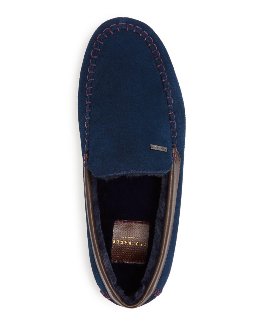 a5cab0d0856 Lyst - Ted Baker Men s Moriss Suede Moccasin Loafers in Blue for Men