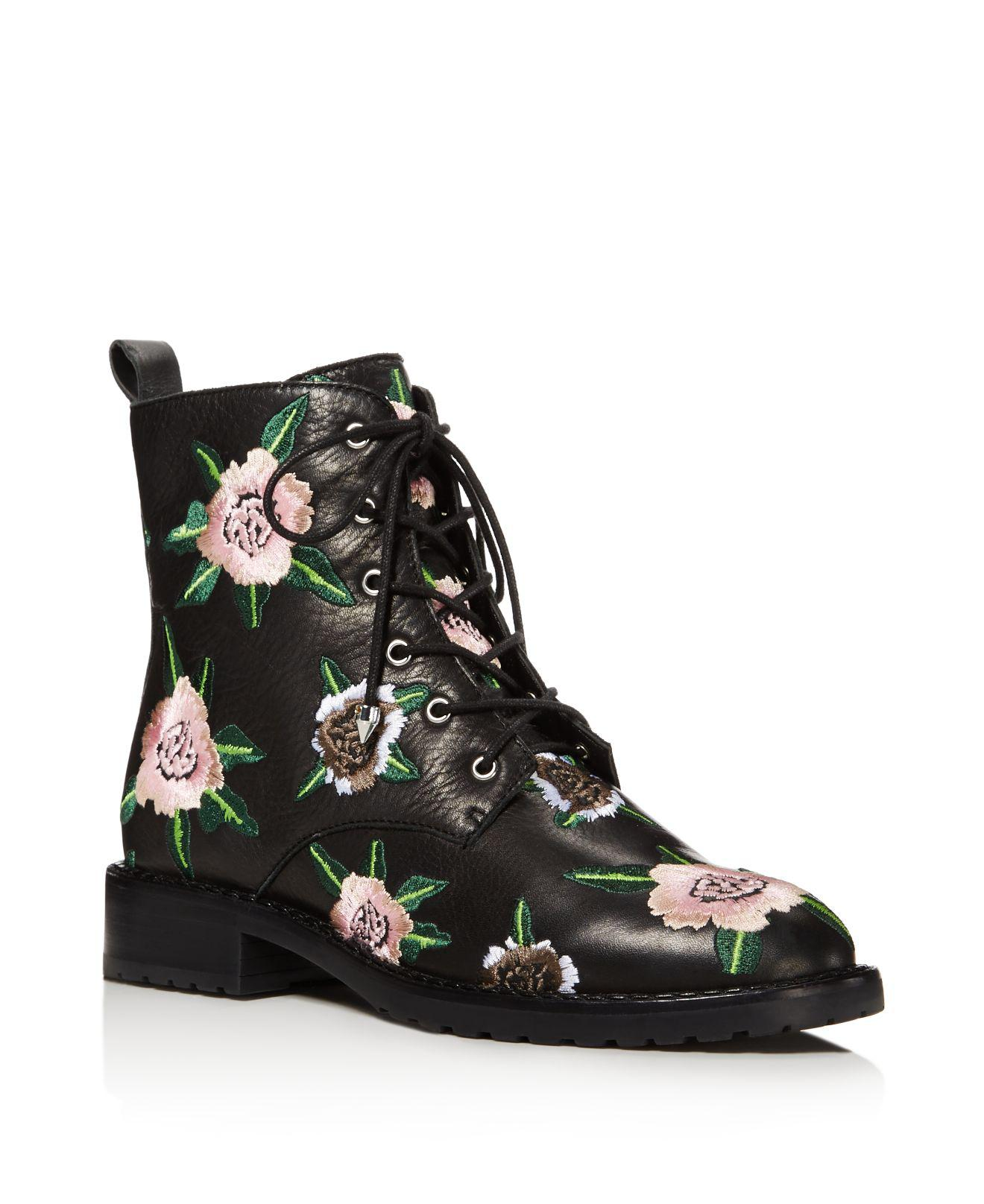 Rebecca Minkoff Embroidered Combat Boots free shipping authentic 0Lqx4FMC