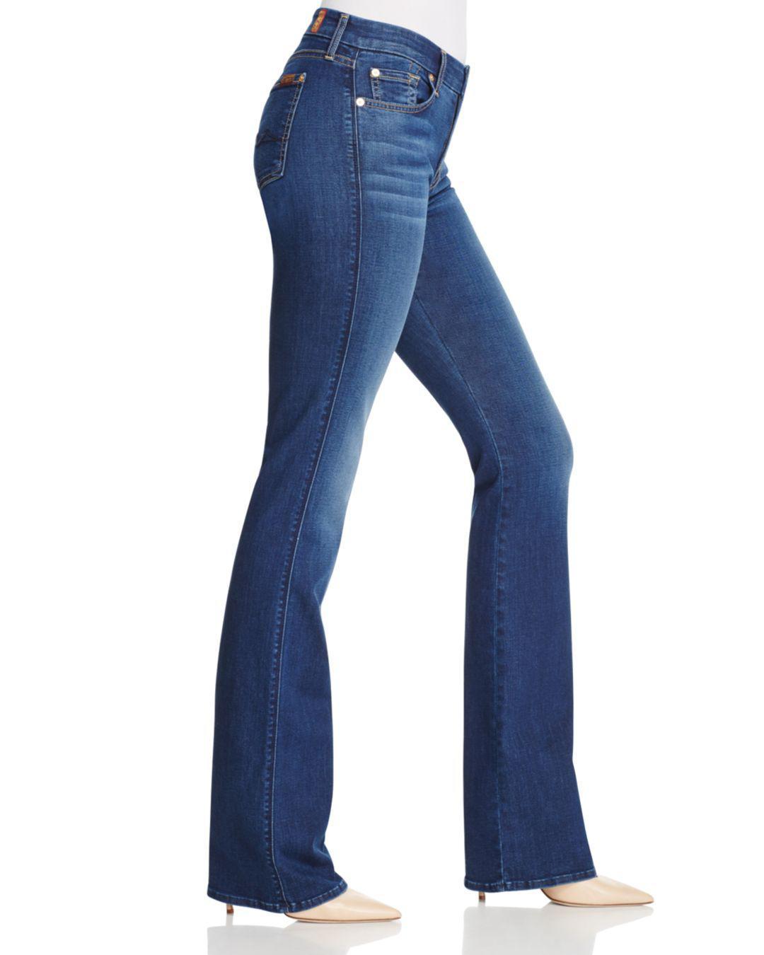 7 For All Mankind Denim B(air) Kimmie Bootcut Jeans In Duchess in Blue